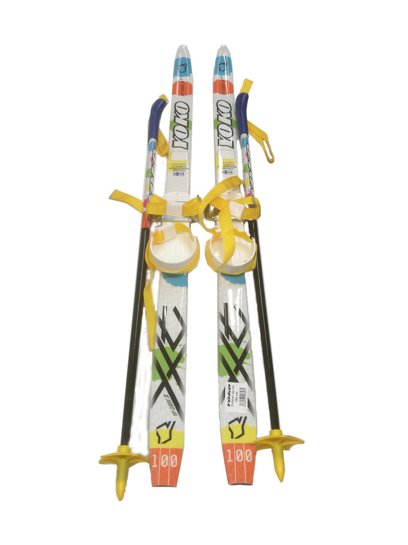 Yoko Kids ski set / skis 100 cm + plastic bindings + poles