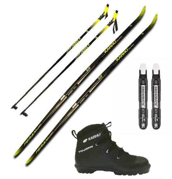 Karhu Feran BC ski set with boots and poles